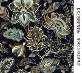 vintage seamless pattern.... | Shutterstock .eps vector #406388731