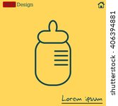 baby milk bottle flat icon for...