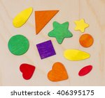 pattern of geometric shapes | Shutterstock . vector #406395175