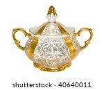 Porcelain Sugar Bowl From An...