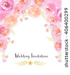wedding invitation template... | Shutterstock . vector #406400299