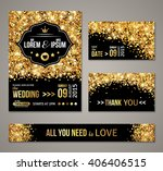 set of wedding invitation cards ... | Shutterstock .eps vector #406406515