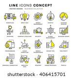 thin line icons set. business... | Shutterstock .eps vector #406415701