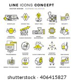 thin line icons set. business... | Shutterstock .eps vector #406415827