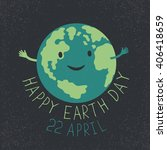 earth day illustration. earth... | Shutterstock .eps vector #406418659