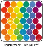 colorful calendar for year 2017 ... | Shutterstock .eps vector #406431199