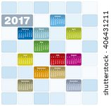 colorful calendar for year 2017 ... | Shutterstock .eps vector #406431211
