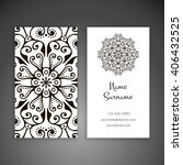 business card or invitation.... | Shutterstock .eps vector #406432525