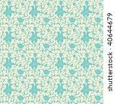 retro floral seamless pattern | Shutterstock .eps vector #40644679