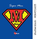 mothers day card m for mom   ... | Shutterstock .eps vector #406451635