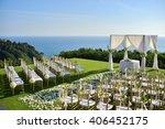wedding set up | Shutterstock . vector #406452175