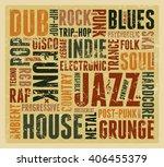 music styles typographic...