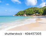 crystal bay on the island of... | Shutterstock . vector #406457305