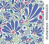 floral seamless pattern.... | Shutterstock . vector #406462624