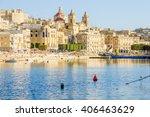 view of senglea harbor  one of... | Shutterstock . vector #406463629