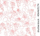 seamless pattern with small... | Shutterstock .eps vector #406465174