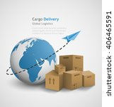 global logistics concept... | Shutterstock .eps vector #406465591
