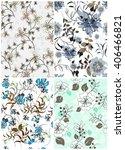 seamless vector floral pattern... | Shutterstock .eps vector #406466821