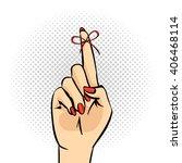 vector hand drawn pop art... | Shutterstock .eps vector #406468114