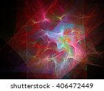 digital abstract fractal... | Shutterstock . vector #406472449