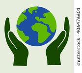 save earth concept | Shutterstock .eps vector #406476601