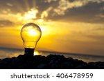 bulb sunset   Shutterstock . vector #406478959