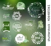 hand drawn labels and elements... | Shutterstock .eps vector #406485361
