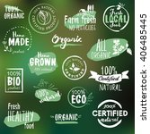hand drawn labels and badges... | Shutterstock .eps vector #406485445