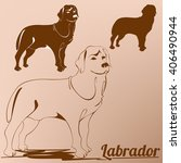 vector one color image of a dog ... | Shutterstock .eps vector #406490944