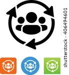 customer relationship... | Shutterstock .eps vector #406494601