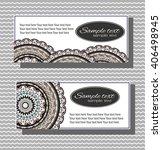 set of wedding cards. wedding...   Shutterstock .eps vector #406498945