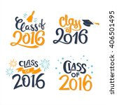 set of graduation labels.... | Shutterstock .eps vector #406501495