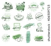 organic food badges and... | Shutterstock .eps vector #406509715