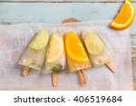 homemade fruit popsicle sticks | Shutterstock . vector #406519684