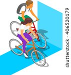 cyclists riding bike vector... | Shutterstock .eps vector #406520179