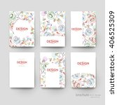 floral abstract vector brochure ... | Shutterstock .eps vector #406525309