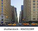 crossroad on 6th avenue in... | Shutterstock . vector #406532389
