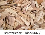 close view of hickory wood... | Shutterstock . vector #406533379