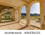 arches and stairs of derelict... | Shutterstock . vector #406536151