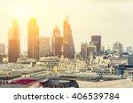 london at sunset  yellow sun... | Shutterstock . vector #406539784
