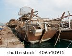 Old Fishing Boats With Rusty...
