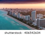aerial view of miami beach... | Shutterstock . vector #406542634