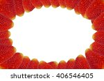 Small photo of Strawberry frame with blank white inner circle