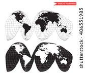 goode homolosine projection.... | Shutterstock .eps vector #406551985
