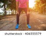 women tired running at sunset