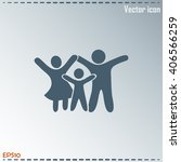 happy family icon in simple... | Shutterstock .eps vector #406566259