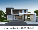 3d rendering of tropical house... | Shutterstock . vector #406578745