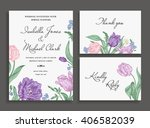 vintage wedding set with spring ... | Shutterstock .eps vector #406582039