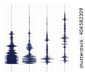 seismogram of different seismic ... | Shutterstock .eps vector #406582309