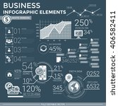 business infographic elements | Shutterstock .eps vector #406582411